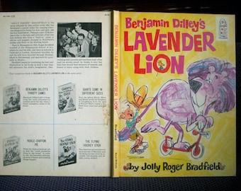 Benjamin Dilley's Lavender Lion, Jolly Roger Bradfield, Very Rare 1968 Vintage Children's Book