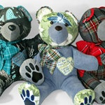Memory bear from loved one's clothing