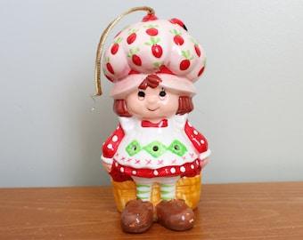 Strawberry Shortcake Ornament, 4.5 Inches Tall, Ceramic, 1983