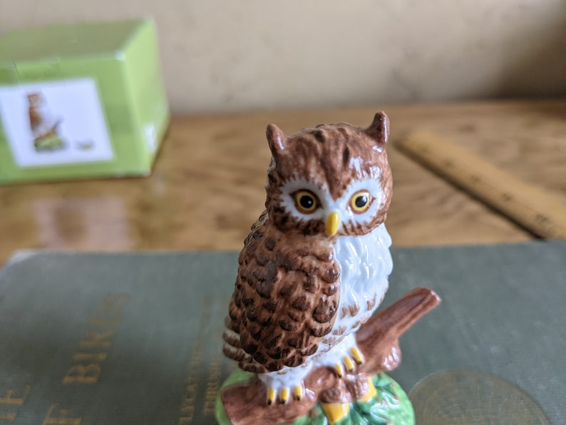 Trinket Box Jewelry Box Wise Owl Collectible Box National Home Gardening Club 3.5 Inches Tall