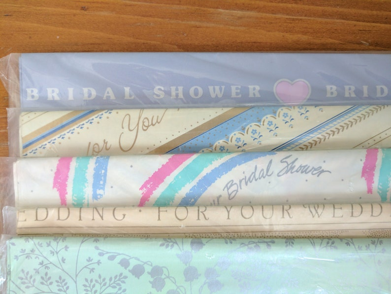 678f7f9efd5 Wedding And Bridal Shower Wrapping Paper New in Plastic 8.33