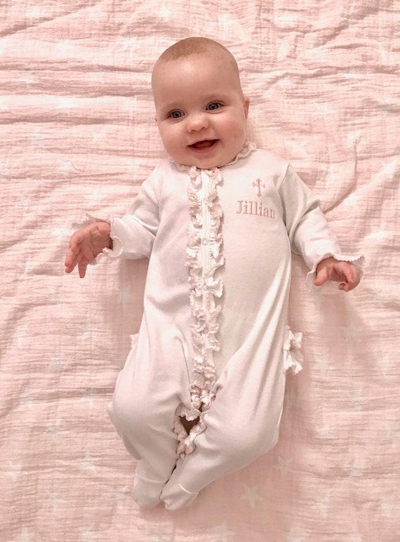 Baby Mädchen Taufe Outfit Baby Mädchen Outfit Baby Mädchen Taufe Kleidung Personalisierte Taufe Outfit Taufe Kleidung Pima Baumwollbaby Taufe