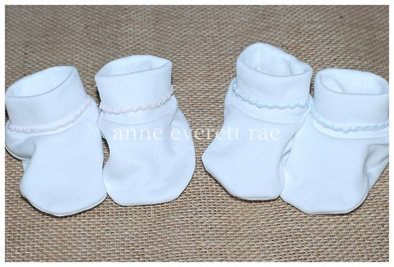 f63c7ad99 Pima Cotton Baby Booties-Coming Home Outfit Baby Shoes