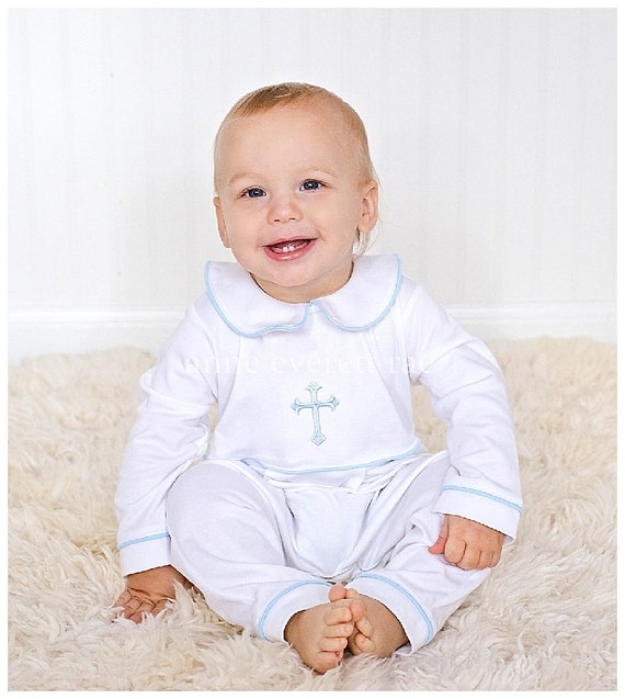 Baby Boy Baptism Outfit-Footed Baptism Outfit-Baby Boy | Etsy