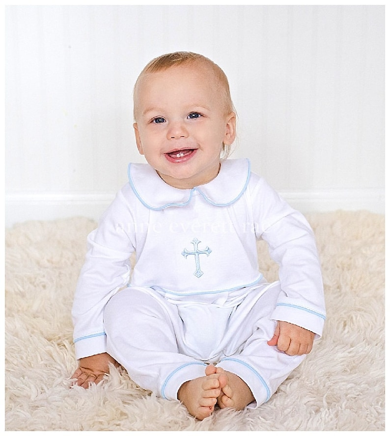 bbe458ec4 Baby Boy Baptism Outfit-Footed Baptism Outfit-Baby Boy Christening  Outfit-Pima Cotton baby-Luke Baptism Outfit-Baby Boy Baptism Outfit