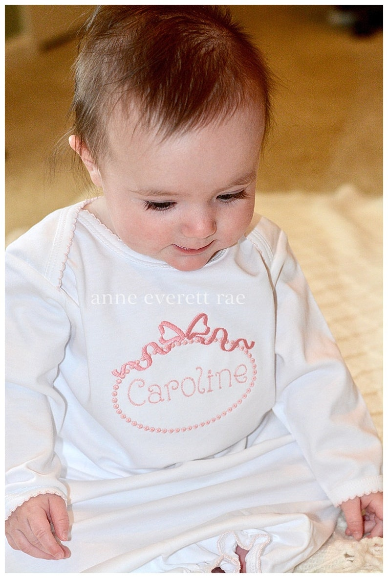 89d74ab34862b Baby Girl Coming Home Outfit Personalized Pima Cotton