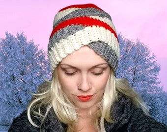Twisted Winter Turban Hat Crochet Pattern download intermediate worsted H hook Size Adult Youth Child Toddler fun toque beanie stash buster