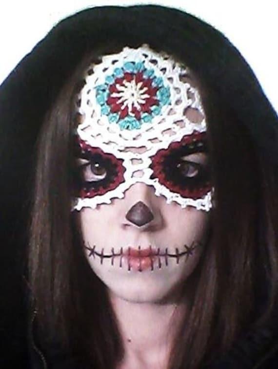 Sugar Skull Mask Crochet Pattern Pdf Download Day Of The Dead
