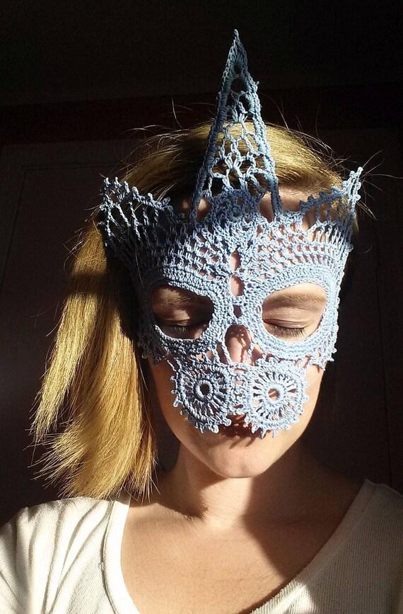 Unicorn Lace Masquerade Mask Crochet Pattern Digital Download Etsy