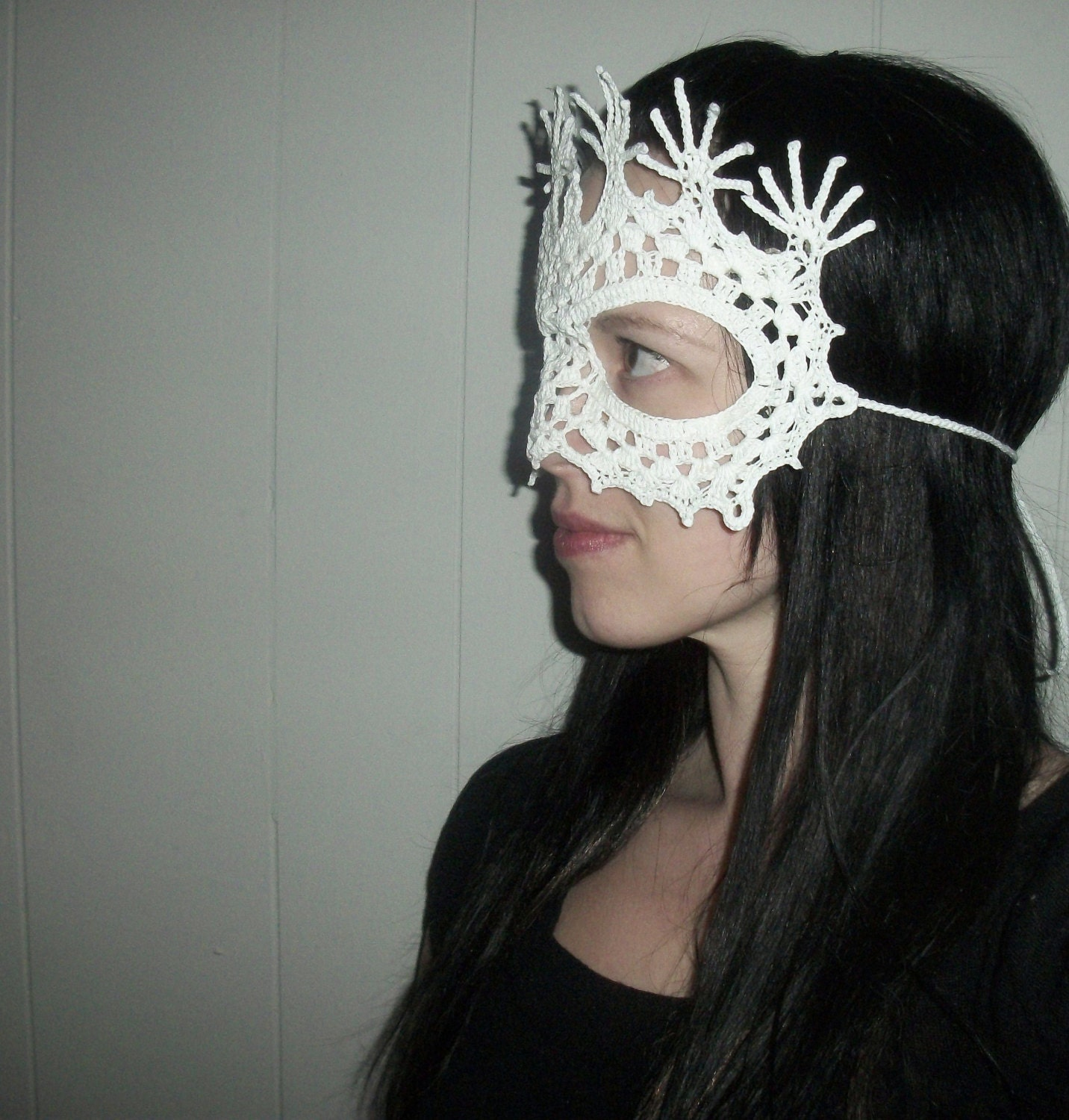 Peacock Lace Masquerade Mask Crochet Pattern Costume Dress Up Etsy