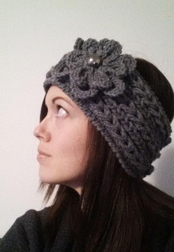 Winter Weave Crochet Headband Pattern Textured Braided Flower Etsy