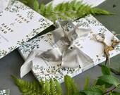 Vine Wedding Invitation, Green Wedding Invitation, Gold Wedding Invitation, Botanical Wedding Invitation, Gold Foil, Modern, Neutral, Garden