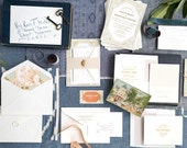 Gold Wedding Invitation, Gold Foil Wedding Invitation, Vintage Wedding Invitation, Letterpress Wedding Invitation, Gatsby Wedding Invitation