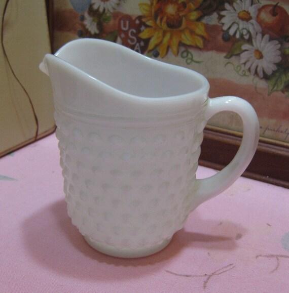 Verre de lait Vintage cloutés Anchor Hocking pinte pichet #14