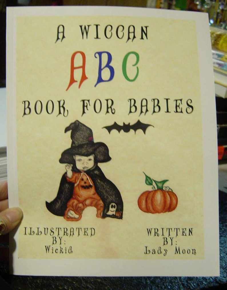 A Wiccan ABC Book for Babies witch pagan goddess nursery