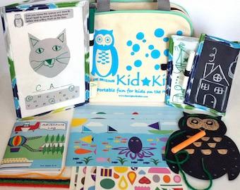 Kid's Travel Kit, Kids Activity Kit, Kids Craft Kit, The Original KidKit, Reusable Travel Games in Bag, Kids Craft Kit, Kids Gift