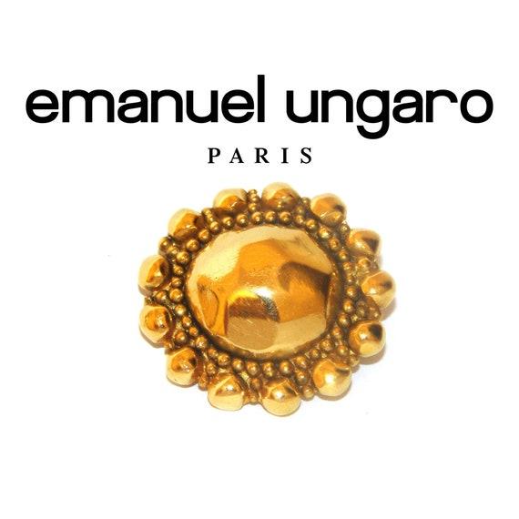 UNGARO PARIS BROOCH Vintage Emanuel Ungaro Gold Pl