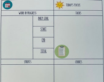 Daily Planner Page for Authors - Printable