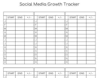 Social Media Growth Tracker