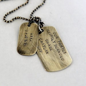 Marriage Son In Law Wedding Day Son in Law Gift Mens Dog Tag Necklace Rustic Wedding Gift Gift For Son in Law Personalized Dog Tags