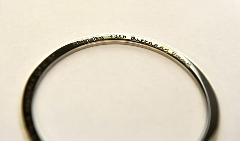 Inspirational Quote Jewelry Hand Stamped Bangle Hypo Allergenic Stainless Steel Women Quote Bangle 40th Birthday Gift