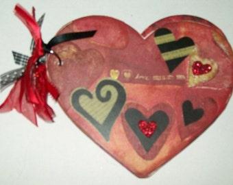 Red Valentine Premade Album/Scrapbook