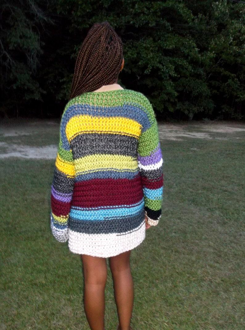 Multi Oversize Sweater Long Sleeve Knit Coat Chunky Knit Sweater Coat Hand Knitted Sweater Fall 12 Price Sale Coat Cardigan