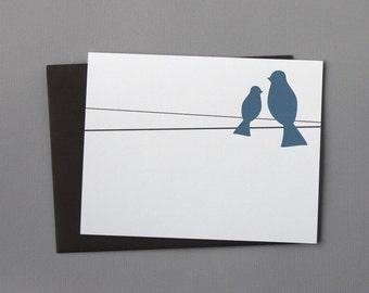 Blue Birds A2 Flat Note Cards (Set of 10)
