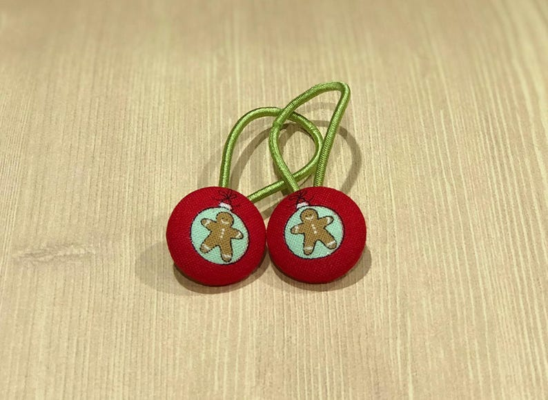 7/8 Size 36 Red/Brown/Green Gingerbread Ornament image 0