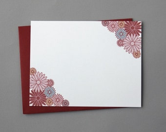 Multi-Floral A2 Flat Note Cards (Set of 10)