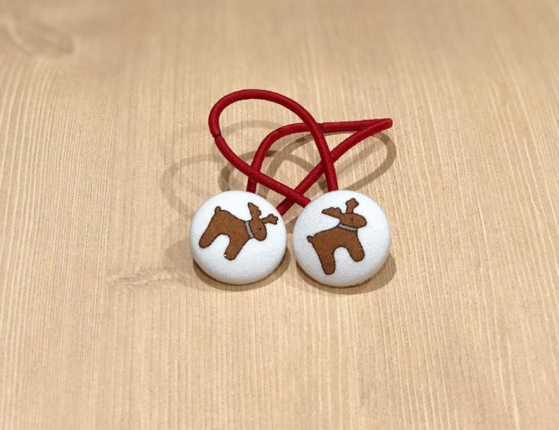 7/8 Size 36 White/Brown Reindeer Christmas Holiday image 0