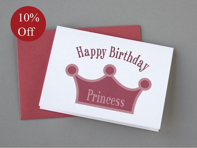 HOLIDAY SALE -- 10% OFF Princess (Happy Birthday) 4-Bar Folded Card