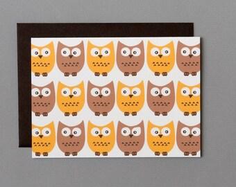 Little Owls 4-Bar Folded Card