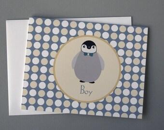 Penguin (Boy) A2 Folded Card