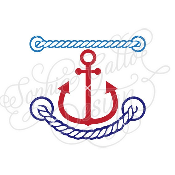 Anchor Ropes Border Svg Dxf Digital Download Files For Etsy