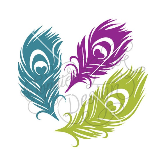 Peacock Feather Love Svg Dxf Digital Download Files For Etsy