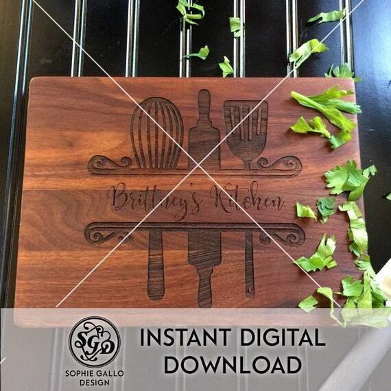 Kitchen Baking Monogram Svg Dxf Png Digital Download File Etsy