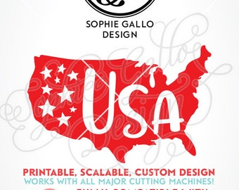 United States July 4th SVG DXF PNG digital download file Silhouette Cricut vector clipart graphics Vinyl Cutting Machine, Screen Print