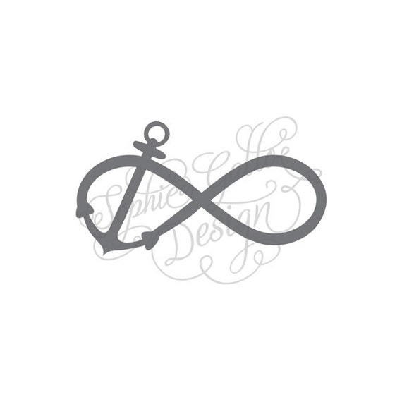 Infinity Anchor Svg Dxf Digital Download Files For Silhouette Etsy