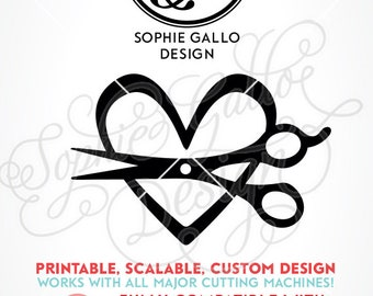 Hair Stylist Love SVG DXF PNG digital download files for Silhouette Cricut vector clipart graphic Vinyl Cutting Machine Screen Printing