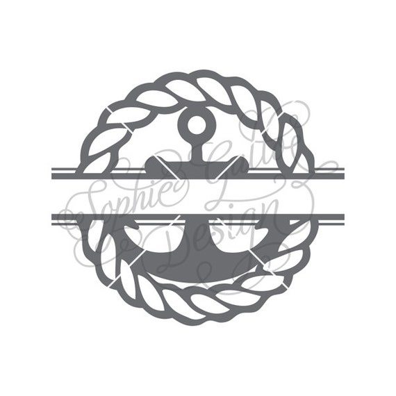 Split Rope Nautical Anchor Svg Dxf Digital Download Files Etsy