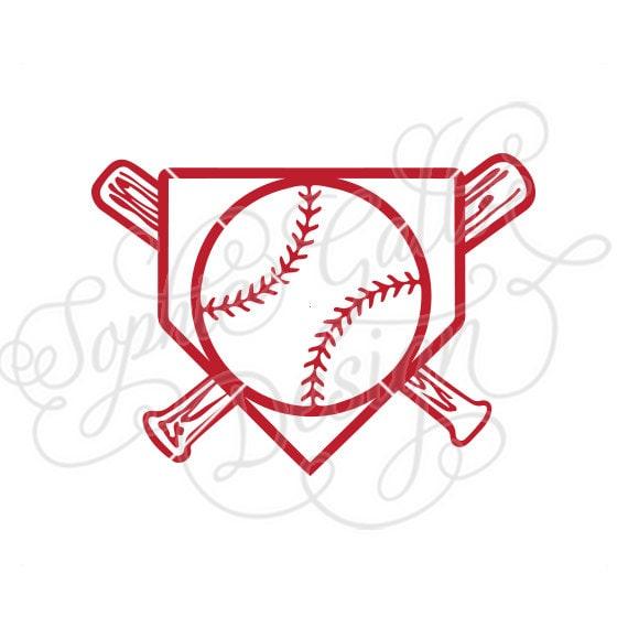 Baseball Home Plate Logo Svg Dxf Png Digital Download File