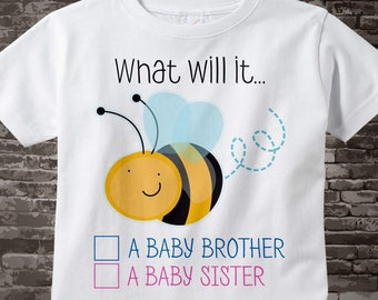 Gender Reveal Party t shirt - Baby Gender Reveal Shirt - What will it Bee Gender Reveal Shirt Outfit short or long sleeve 01272016j