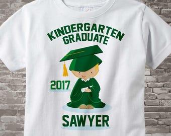 Personalized Kindergarten Graduate Shirt, Kindergarten Graduation Shirt Child's Back To School Shirt 05292014a