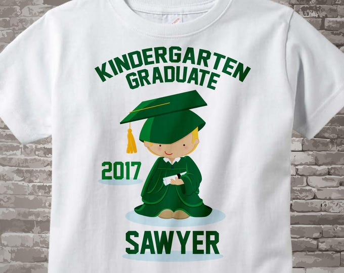 Personalized Kindergarten Graduate Shirt, Kindergarten Graduation Shirt Child's Back To School Shirt 05292014a