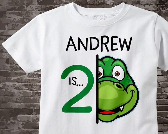 2nd Alligator Birthday Shirt or Onesie, Personalized Gator Birthday Shirt with Child's Name and age, Second Birthday shirt 09222017b