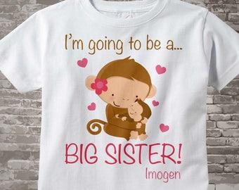 Big Sister Shirt or Onesie - Big Sister shirt Gift - Big Sister Shirt Announcement - Big Sister Outfit -Going to Be A Big Sister - 01062012b