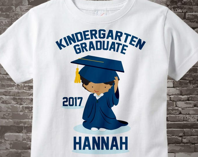 Kindergarten Graduate Shirt, Kindergarten Graduation Shirt, Personalized for your little girl with year and name 06092015c