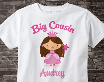 Princess Big Cousin Shirt, Personalized Big Cousin Shirt or Onesie, Big Cousin Shirt for Toddlers and Kids 02062014h