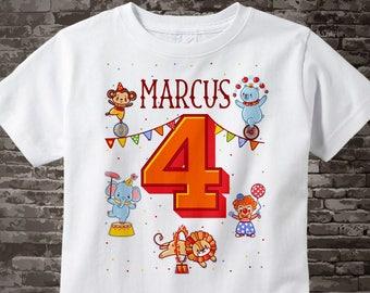 Circus 4th Birthday Shirt, Circus Themed Birthday Party, Circus Fourth Birthday shirt for Circus Themed Birthday Party 02142017a